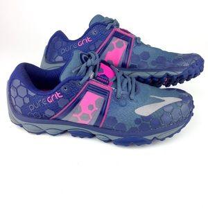 Brooks PureGrit Blue Women Sneakers Size 8 A7